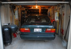 Yes, that's right, a car is finally in the garage